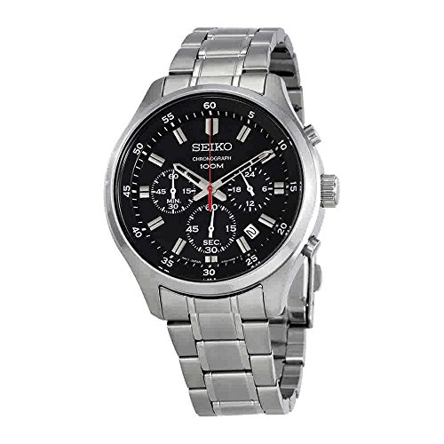 Seiko-Mens-43mm-Steel-Bracelet-Case-Hardlex-Crystal-Quartz-Black-Dial-Analog-Watch-SKS587