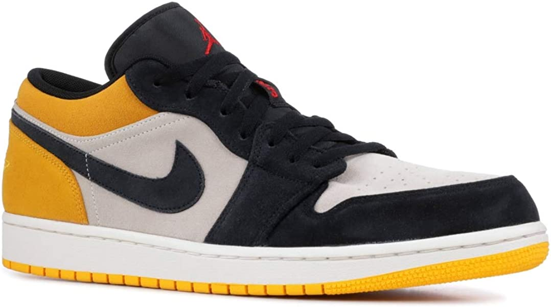 Nike Men's Jordan AJ 1 Low Sail/Gym Red/University Gold/Black Leather Casual Shoes 13 M US 51ZmPyl-sBLUL1078_