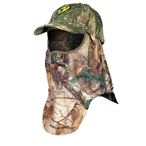Scent Blocker Cap and Facemask, Real Tree Xtra