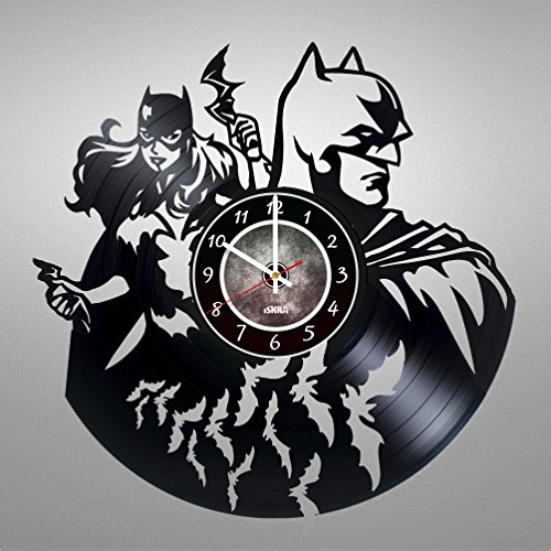 Sexy Robin Corset Costumes (Batman Superhero and Batgirl Vinyl Record Wall Clock - Get unique Bedroom wall decor - Gift ideas for boys and girls, men and women - Unique Comics Modern Wall Art)