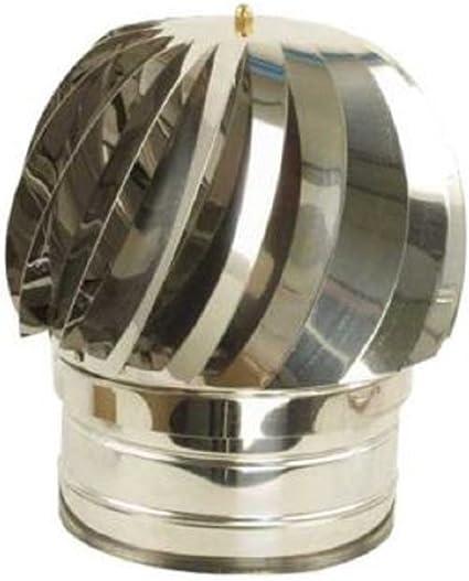 Base tonta tutte le dimensioni... Cappello eolico per camini in acciaio inox Comignoli girevoli