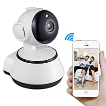 Mbangde Wifi Camera Pan / Tilt / Zoom Wireless IP Security Surveillance System 720P HD Night Vision and Motion Detection for Baby / Elder / Pet / Nanny Monitor