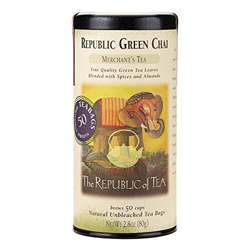 Republic Of Tea Almond Tea (The Republic Of Tea Republic Chai Green Tea, 50 Tea Bag Tin)