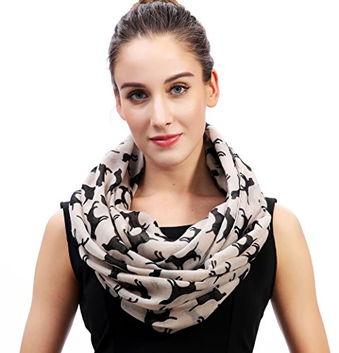 Lina & Lily Labrador Dog Print Women's Infinity Loop for sale  Delivered anywhere in Canada