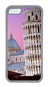 iPhone 5C Case, iPhone 5C Cases - Landscapes Tower Pisa Custom Design iPhone 5C Case Cover - Polycarbonate¨C Transparent