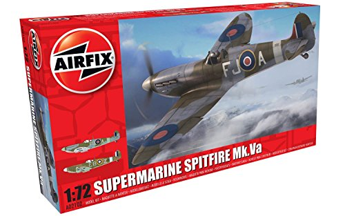 Airfix Super Marine Spitfire MK VA 1:72 Military Aircraft Plastic Model Kit