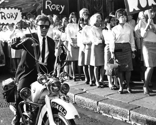 Ray Brooks seated on Ariel London Mods motorbike The Knack 1967 16x20 Poster