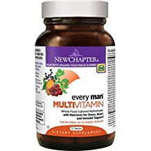 New Chapter Every Man, Men's Multivitamin Fermented with Probiotics + Selenium + B Vitamins + Vitamin D3 + Organic Non-GMO Ingredients - 72 ct