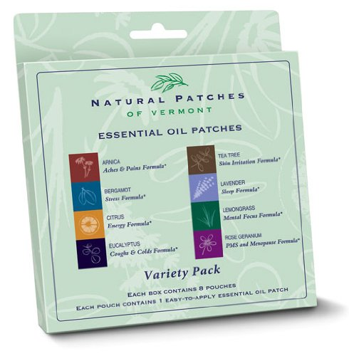 Body Patch Aroma (Natural Patches of Vermont - Aromatherapy Body Patch Essential Oil Blend Variety Pack - 8 Patch(es) Formerly Naturopatch)
