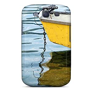 Premium Yellow Boat Back Cover Snap On Case For Galaxy S3