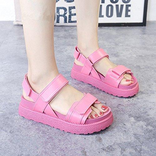 el Verano sandalias Boho Alta LI bajo tal heelsWomen mujer BAJIAN sandalias planas nYvATx