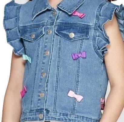 Girls JoJo Siwa Denim Cupcake Vest (Small 6-6X) by By Jojo Siwa (Image #1)
