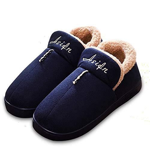 Peluche Non Couple Coton Portable Inconnu Bleu Thermique Liebe721 Cheville Wrap Pantoufle Slipper Glissant Unisexe En Famille vFxTqwf