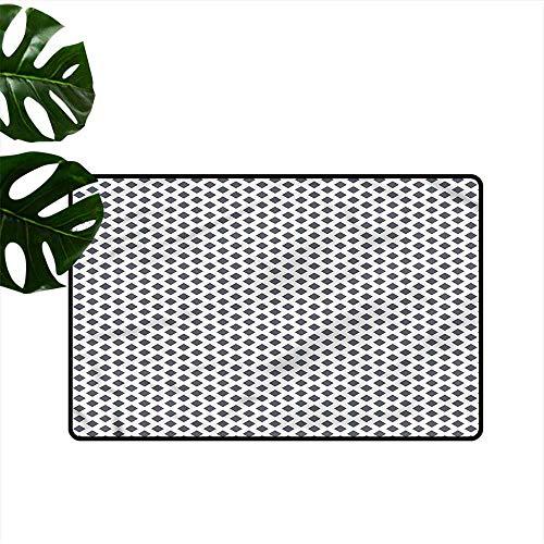 Pet Door mat Modern Basket Braid Pattern Super Absorbent mud W35 xL47