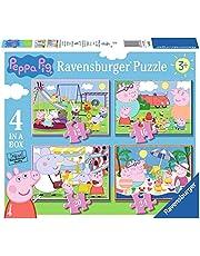 Ravensburger Peppa gris pussel för barn från 3 år, 10,2 cm (12, 16, 20, 24 stycken)