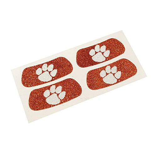 Clemson Tigers NCAA Glitter Eye Black Strips, Perfect for Game Day and Tailgate (2 Pairs)