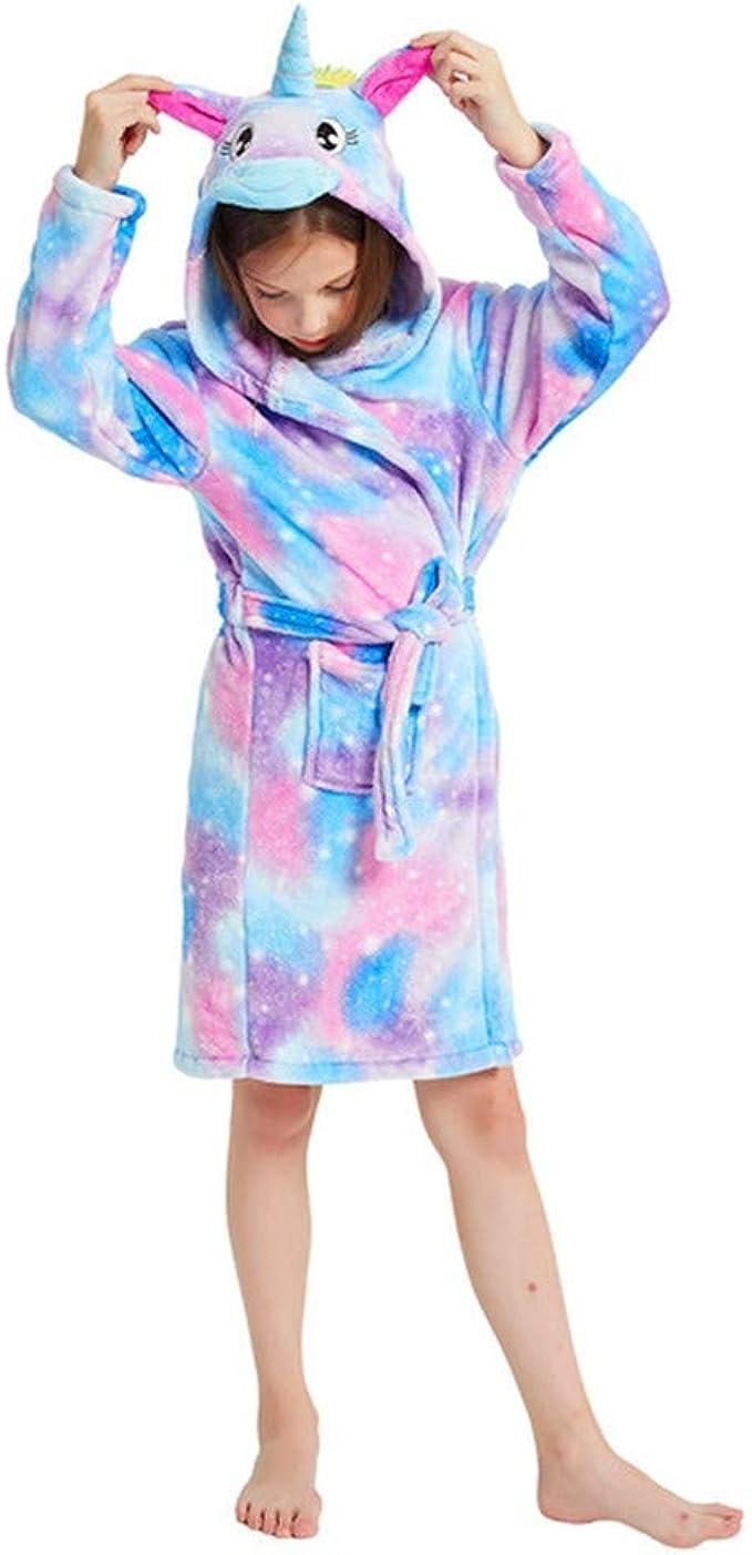 Niños Unisexo Onesies Pijamas Bata de Unicornio Azul de una ...