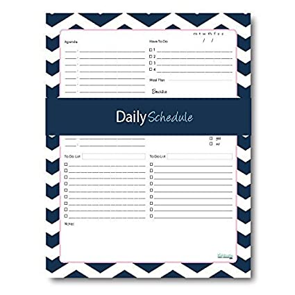 Daily Schedule Notepad Daily Agenda Meal And Fitness