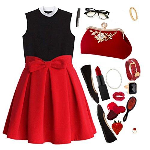 Rhinestone Luxury Evening Chain Red Purse Clutch Women Party Bag Wedding Black Dabixx Prom Wallet cIOHqTYwf