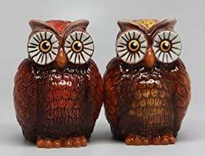 ATTRACTIVES SALT AND PEPPER SHAKER - OWLS by Pacific Trading