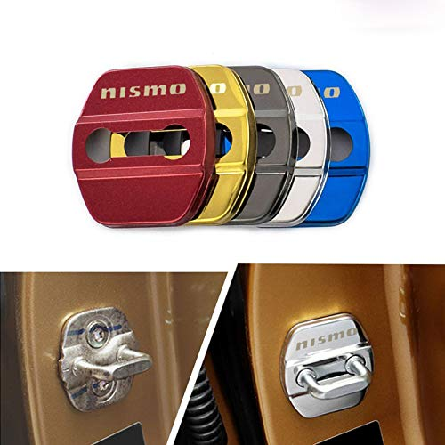 Infinity-Deal 4X Stainless Steel Car Door Lock Cover Protective Case Sticker for Nissan nismo 370z 390z Replacement Accessories