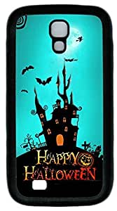 Galaxy S4 Case, Personalized Protective Soft Rubber TPU Black Edge Happy Halloween Case Cover for Samsung Galaxy S4 I9500