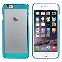 iPhone 6 Plus Case, MagicMobile® Ultra [THIN] Crystal Frost Clear Luxury [ELECTROPLATING] Design Frame PC Hard Back Cover Case for Apple iPhone 6 Plus Scratch Resistant [ Color: Turquoise ][Compatible Only with iPhone 6 Plus (5.5 Inch) ]