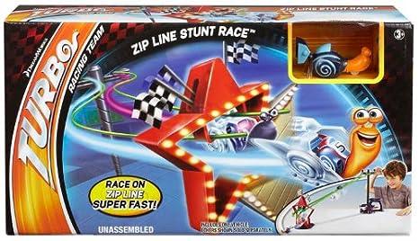 Turbo - Set de juego, Zipline Stunt Race (Mattel Y5797): Amazon.es: Juguetes y juegos