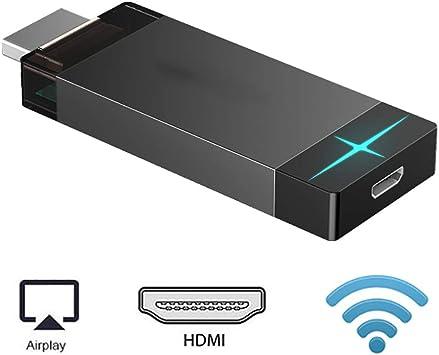 H&T Dongle Wireless Display, Pantalla Receptor Soporte inalámbrico ...