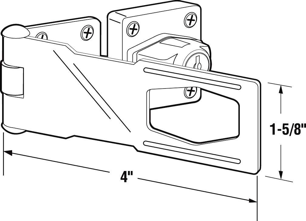 4 inch Keyed Hasp Lock, Twist Knob Keyed Locking Hasp for Doors Cabinets Zinc Alloy Plated