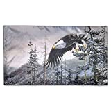 Bald Eagle Art Foot Flag Canvas Header And Double Stitched Banner Party Flags 3 X 5 Ft