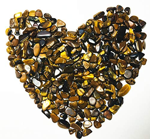Xinxingshuo 1 lb Tiger's Eye Small Tumbled Chips Crushed Stone Healing Reiki Crystal Jewelry Making Home Decoration (Tiger's Eye)