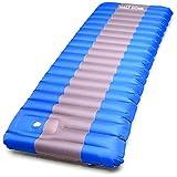 sleeping bag - Half Dome Sleeping Pad Waterproof Mat - Perfect Hiking, Camping, Car Sleeping, Backpacking Air Sleeping - Inflatable Sleep Bag Pad Built in Pump