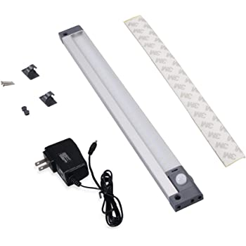 Motion Sensor Light Plug in Angle Adjustable Aluminium Detector Lights Low Voltage with Adapter