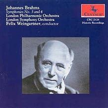 Brahms:Symphonies No 3 And 4