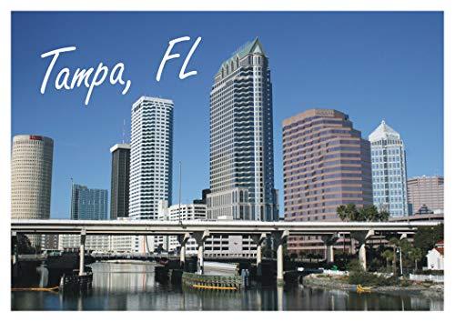 Tampa, Florida, FL, City, Skyline, Bridge, Travel, Souvenir, Refrigerator, Locker Magnet 2 x 3 Fridge Magnet