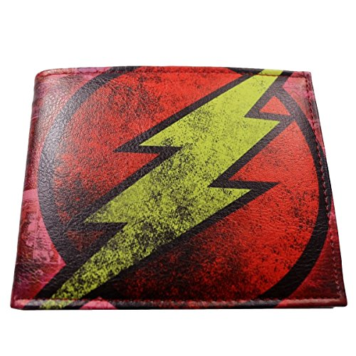 DC Comics (Justice League) Flash Leather Bi-fold Men's/Boys Wallet with Gift Box