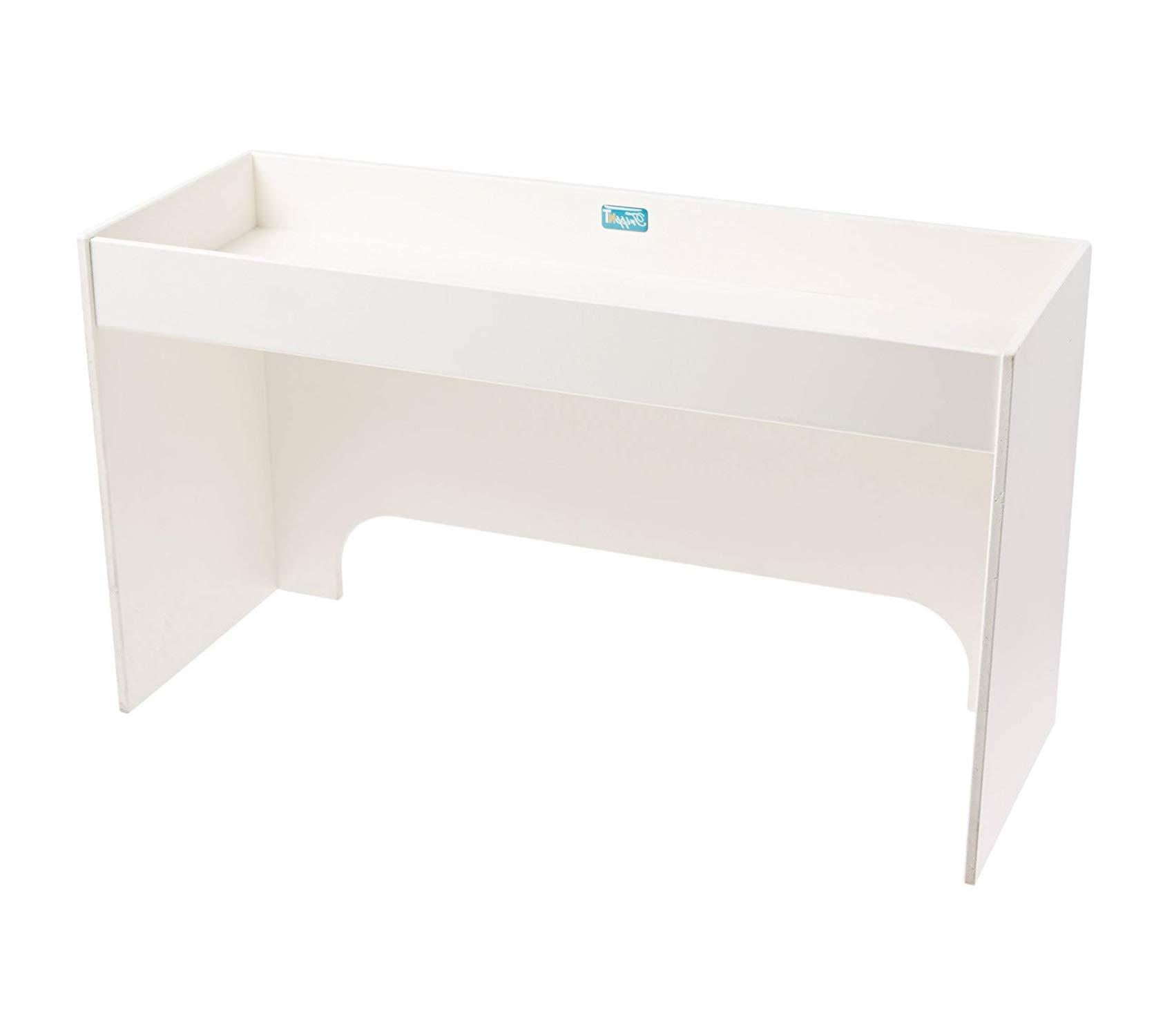 Wood & Style Premium White PVC 24 Step Shelf 24 Width x 10 Height x 9 Depth Storage