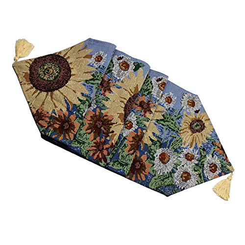 ZHH Sunflowers Table Runner Sunny Floral Colorful Decor 13
