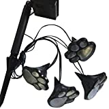 vinmax 4 Solar Lighting Dog Animal Paw Print Lights Garden Outdoor Landscape Statue Lantern LED Path