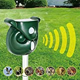 Acidea Solar Animal Repeller, Waterproof Outdoor Raccoon Repellent with Motion PIR Sensor