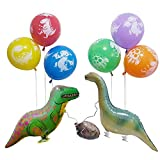 Lolipapa Dinosaur Latex Foil Party Balloon Set Waling Animal Balloon Dinosaur Balloon Kit (Pack of 8)