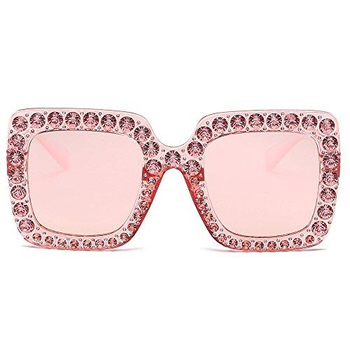 AMOFINY Fashion Glasses Womens Fashion Artificial Diamond Cat Ear Quadrate Metal Frame Brand -