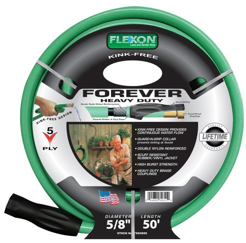 Awesome Amazon.com : Flexon FXG5850 5/8 Inch X 50 Foot Heavy Duty 5 Ply Forever Garden  Hose : Plumbing Hoses : Garden U0026 Outdoor