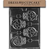 Dress My Cupcake DMCE156 Chocolate Candy Mold, Basket of Eggs Lollipop, Easter