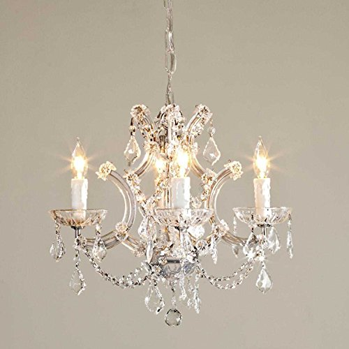 "Saint Mossi Crystal Maria Therese Chandelier Lighting 4 Lights H18"" W18"