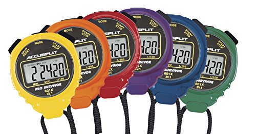 ACCUSPLIT A601X Pro Survivor Rainbow Plus One Stopwatches(6 Pack), Assorted colors by ACCUSPLIT