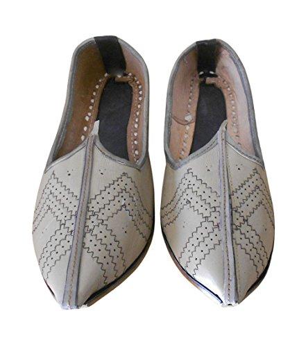 Kalra Creations Traditional Leather Indian Men Shoes Handmade Flipflops Mojari Espadrilles UK 11.5 cS1ToVcELR