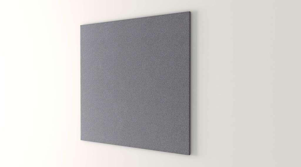 OBEX 36X36-TB-S-GR 36'' x 36'' Square Tackboard, Graphite, 36'' x 36''