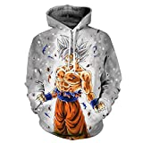 PIZZ ANNU Neutral Long Sleeve 3D Printed Cartoon Dragon Ball Series Pullover Hooded Sweater Coat (08, S)